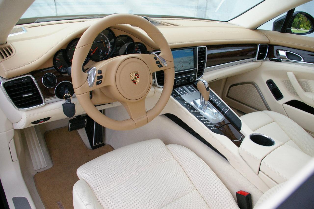 panamera interior image - Porsche Panamera White Interior